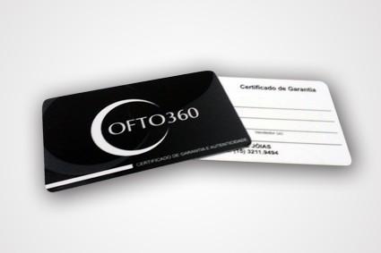 Cartão de Garantia em Sumaré - Cardápio de Pvc