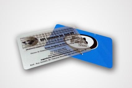 Cartão PVC Transparente no Centro - Crachá de Identificação